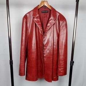 Men's Vintage Kenneth Cole Leather Blazer - XXL
